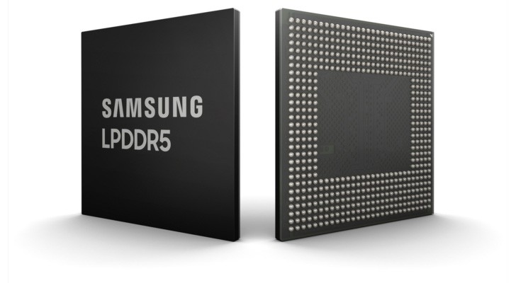 Samsung unveils 8 gigabin LPDDR5 RAM chips for next-gen phones