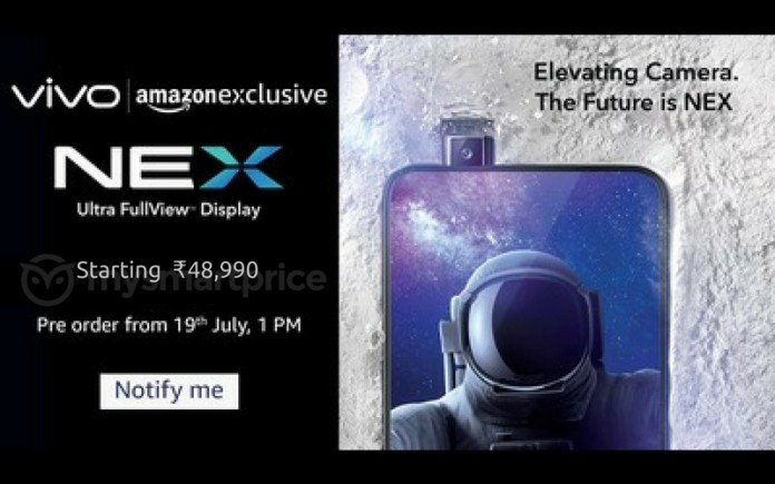 Vivo Nex S price leaked ahead of India launch on July 19