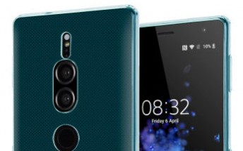 Sony Xperia XZ3 gets portrayed inside various cases