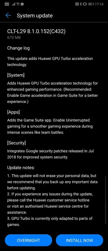 Huawei P20 Pro receives the GPU Turbo update - GSMArena com news