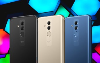 Huawei Mate 20 Lite images show three colors: Black, Gold and Blue