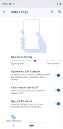 Screenshots from the settings menu