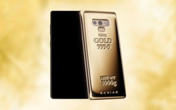 Caviar's Samsung Galaxy Note9 has 1 kg of pure gold on its back
