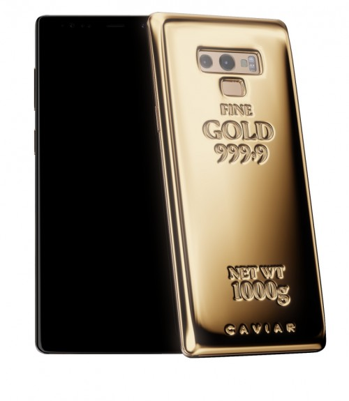 Caviar's Samsung Galaxy Note9 has 1 kg of pure gold on its
