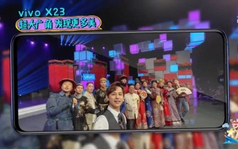 Vivo X23 appears in live TV show