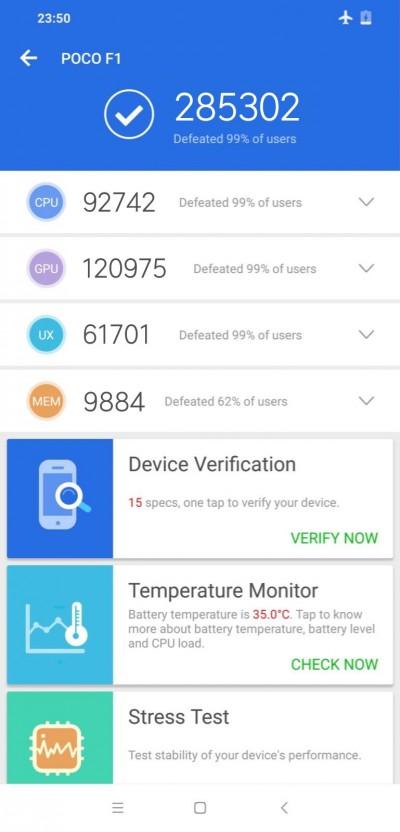 Xiaomi Pocophone F1 on AnTuTu