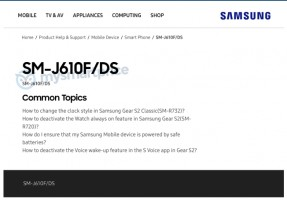 J6 Plus (aka J6 Prime) on Samsung's website