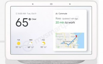 Google Home Hub 7-inch smart display leaks, doesn't have a camera