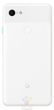 gsmarena 004 - Black and white renders leak of the Google Pixel 3 and 3 XL