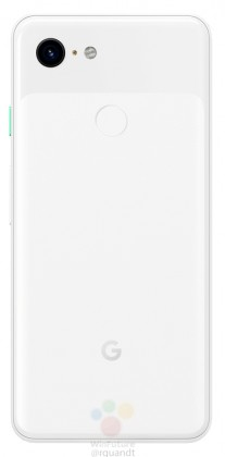 gsmarena 006 - Black and white renders leak of the Google Pixel 3 and 3 XL