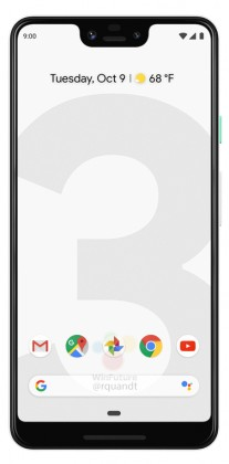 gsmarena 009 - Black and white renders leak of the Google Pixel 3 and 3 XL