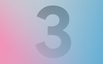Google promotes the Pixel 3, with the number 3