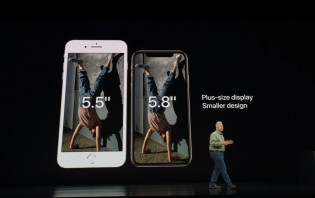 iPhone Xs compared to iPhone 8 Plus