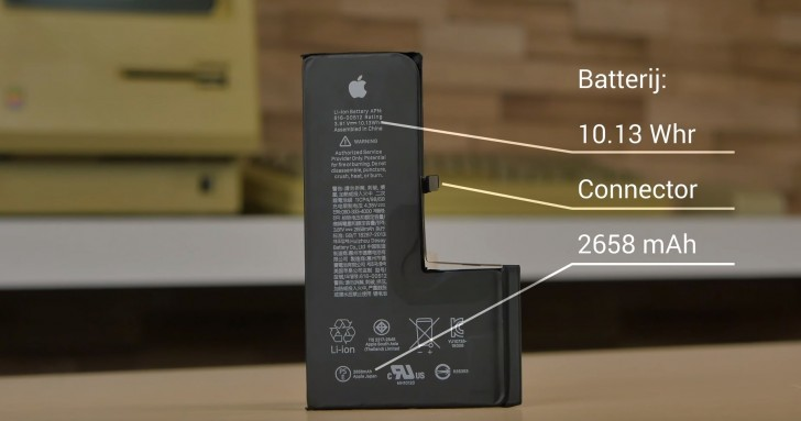 The iPhone XS has a smaller battery capacity than the iPhone X