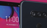 LG V40 ThinQ press image shows off the notch and the triple camera