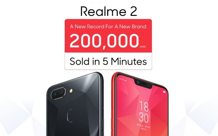 Oppo sells 200,000 Realme 2 phones in 5 minutes - GSMArena com news