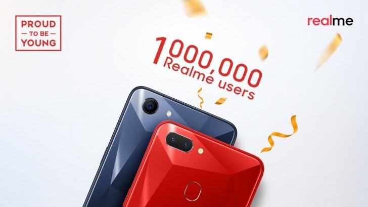 Realme reaches 1 million sales