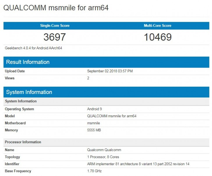 Qualcomm Snapdragon 855 possibly benchmarked, matches