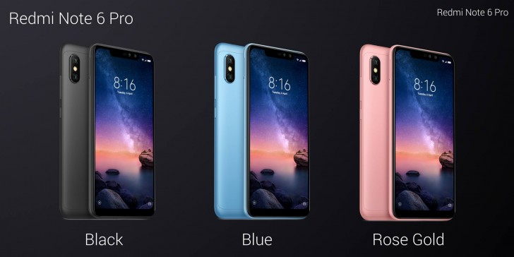 gsmarena 003 - Xiaomi Redmi Note 6 Pro unveiled: adding a notch and a dual selfie cam to the old recipe