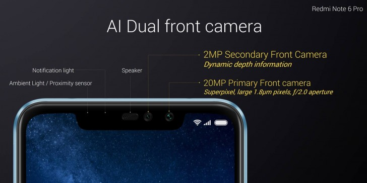 gsmarena 005 - Xiaomi Redmi Note 6 Pro unveiled: adding a notch and a dual selfie cam to the old recipe