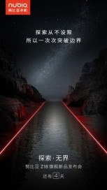 nubia Z18 promo images, suggesting light painting features