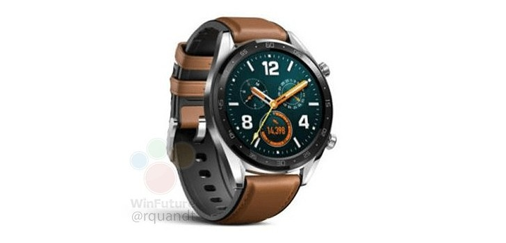 gsmarena 002 - Huawei Watch GT smiles in leaked render ahead of unveiling alongside Mate 20