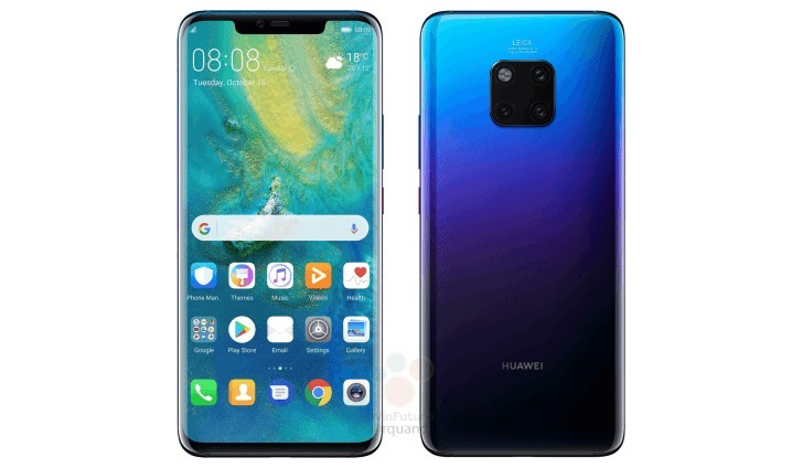 Huawei Mate 20 Pro images reveal awesome 'waterdrop' style notch screen