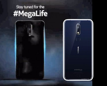 The phone at the end of the video, brightened up and compared to the Nokia 7.1