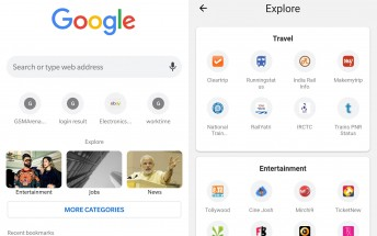 Google Chrome for Android soon to get a new Explore UI when opening a new tab