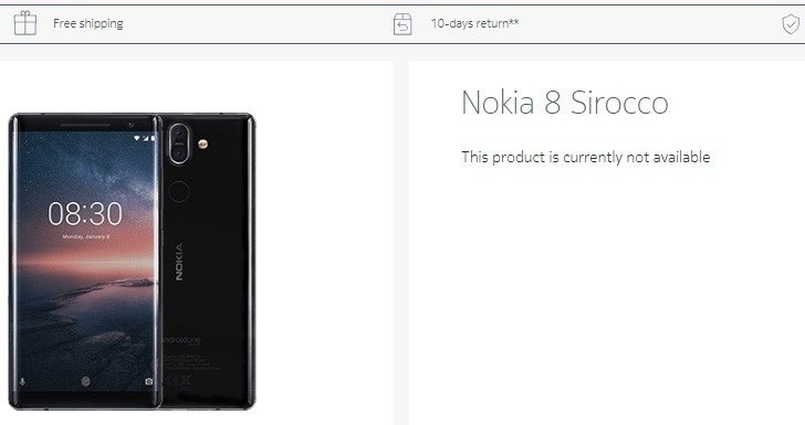 HMD may have quietly discontinued the Nokia 8 Sirocco