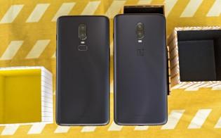 OnePlus 6T next to the OnePlus 6