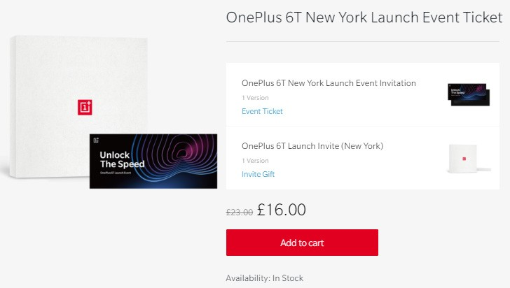 Tickets for the OnePlus 6T event in New York and New Delhi now available