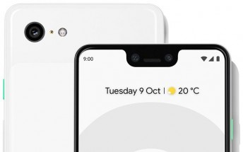 Leaked Pixel 3 XL press image shows stock wallpaper