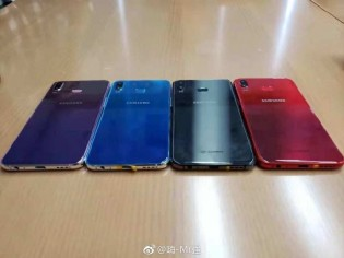 Galaxy A6s in different colors back and front