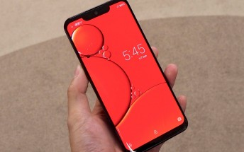 Sharp Aquos Zero uses an in-house developed curved OLED with a huge notch