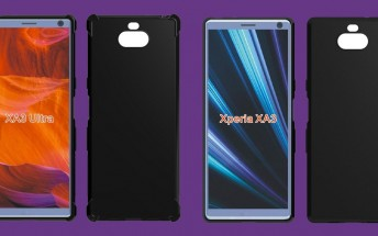 Cases reveal Sony Xperia XA3 and XA3 Ultra with dual rear cameras