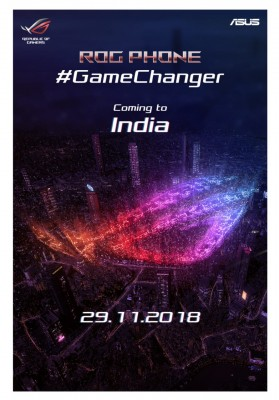 The Asus Rog Phone Is Coming To India On November 29 Gsmarena Com News