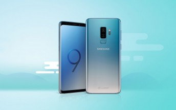 Samsung Galaxy S9 and S9+ get gradient Ice Blue paint job