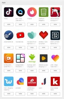 User's choice ballot: Apps (NL)