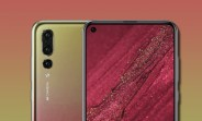 Huawei Nova 4 shows a hole in the screen for the render selfie camera