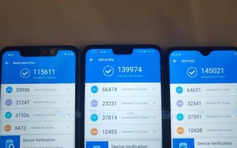 Realme U1 box images and AnTuTu benchmark score pop up