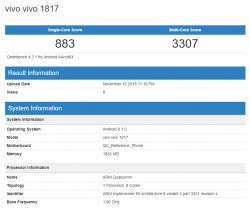 One of the access v1817 on GeekBench