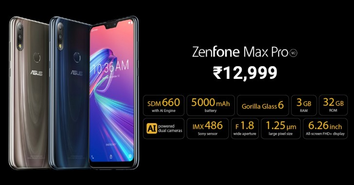 Asus unveils Zenfone Max M2 and Max Pro M2 in Indonesia and