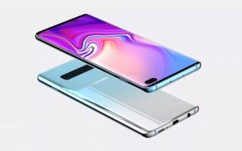 Samsung Galaxy S10+ renders revised: now with four rear cameras, thinner bezels