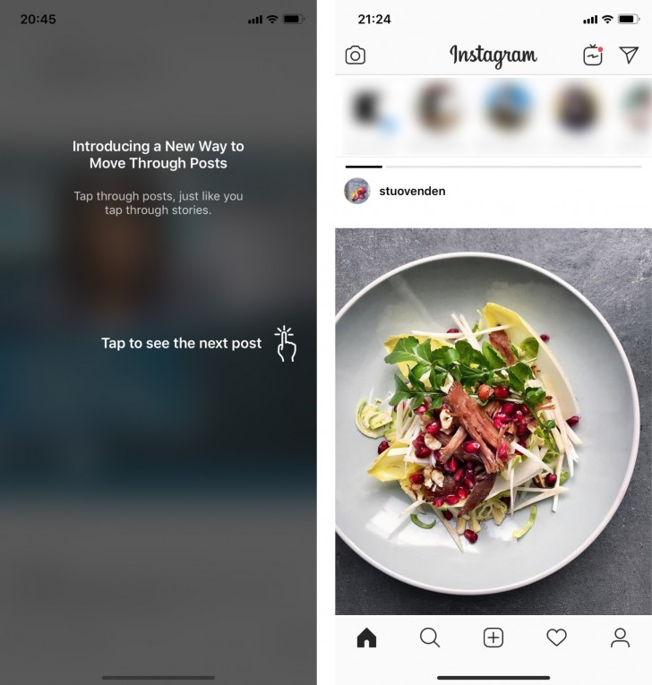 Your Instagram feed now scrolls sideways for no good reason