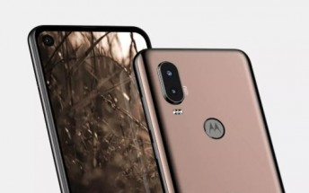 Motorola P40 images appear to reveal punch hole camera