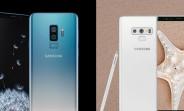 Polaris Blue Galaxy S9+ and Alpine White Galaxy Note9 hit India