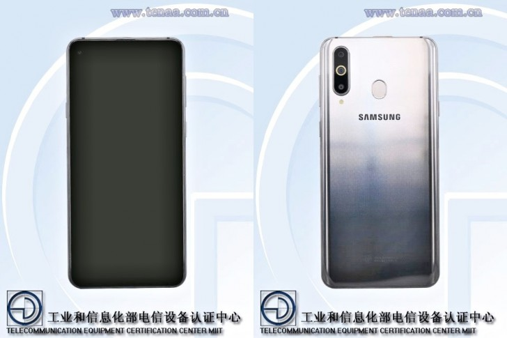 Render shows Galaxy S10 with centered display holes, because why not