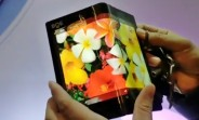 BOE demos foldable display with impressively small bend radius