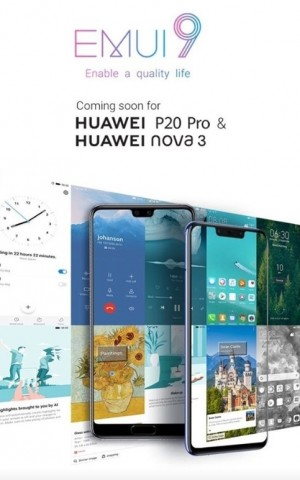 Indian Huawei P20 Pro and nova 3 to get Android 9 update soon